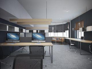 Дизайн коворкинга г.Киев NK design studio Офисные помещения в стиле модерн
