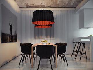 Загородный дом в Краснодаре NK design studio Столовая комната в стиле модерн