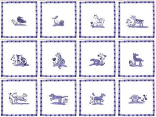 Hand painted Delft tiles Reptile tiles & ceramics Walls & flooringTiles