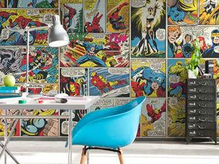 Marvel Super Heroes Murals Paper Moon Paredes y pisosPapeles pintados
