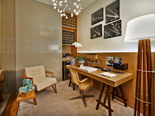 Ana Paula Carneiro Arquitetura e Interiores Minimalist study/office