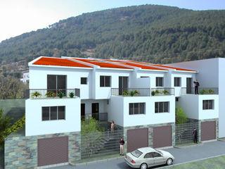 COMPLEJO DE CUATRO VIVIENDAS ADOSADAS. EL TIEMBLO. AVILA. 2007 Bescos-Nicoletti Arquitectos Casas de estilo rural