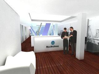 REFORMA OFICINAS. PLAZA DE LA CORTES. MADRID. 2009 Bescos-Nicoletti Arquitectos Oficinas y tiendas de estilo moderno