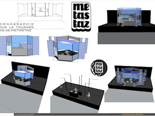 Set design/Scénographie FranckCRL Lieux d'événements minimalistes