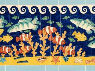 Fish tile panels Reptile tiles & ceramics Walls & flooringTiles