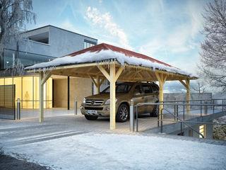 Karibu Holztechnik GmbH Garajes de estilo industrial