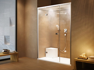 Feature Showers and Steam Showers Nordic Saunas and Steam Modern Bathroom