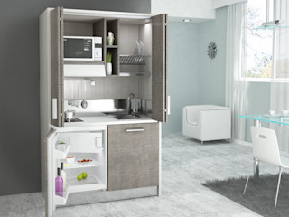 Cucine a scomparsa: una cucina nascosta in un armadio MiniCucine.com CasaContenitori