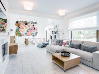 DK architektura wnętrz Ruang Keluarga Gaya Skandinavia