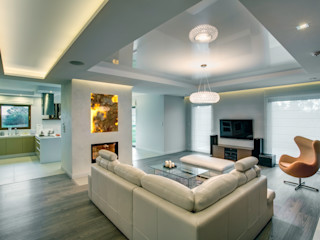 DK architektura wnętrz Ruang Keluarga Modern