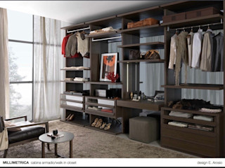 Client walk-in-wardrobes Lamco Design LTD Dressing roomWardrobes & drawers