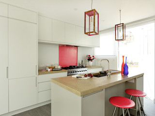 Open-Plan Kitchen/Living Room, Ladbroke Walk, London Cue & Co of London Dapur Modern