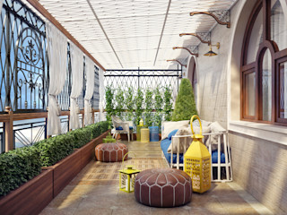 Sweet Home Design Mediterranean style balcony, veranda & terrace