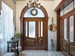 Sweet Home Design Classic style corridor, hallway and stairs