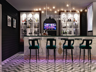 Sweet Home Design Eclectic style media room
