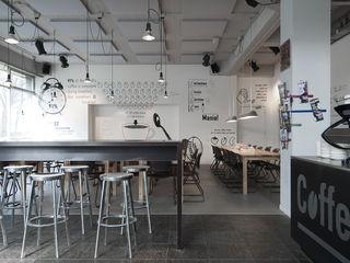 Coffeemania ontwerpplek, interieurarchitectuur Moderne bars & clubs