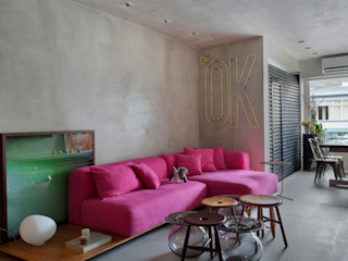 Studio ro+ca Industrial style living room