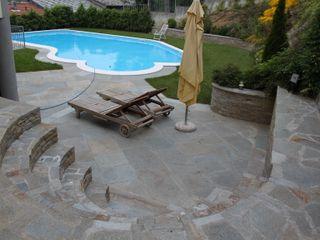 Luserna Stone Piscinas de estilo mediterráneo