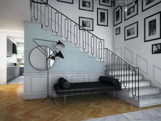 Pracownia Projektowa Pe2 Classic style corridor, hallway and stairs
