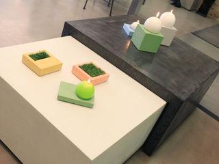 Mobilier sur-mesure béton ciré Les Bétons de Clara SalonCanapés & tables basses