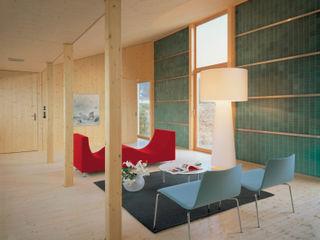 Solarhaus III in Ebnat-Kappel CH, 2000 Dietrich Schwarz Architekten AG Minimalistische Wohnzimmer