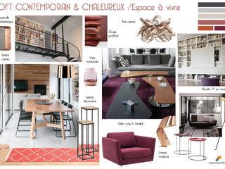 EN COURS - Maison en triplex 120m2 75019 Paris - Loft contemporain et chaleureux Espaces à Rêver Salon industriel