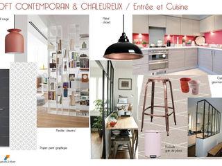 EN COURS - Maison en triplex 120m2 75019 Paris - Loft contemporain et chaleureux Espaces à Rêver Cuisine industrielle