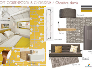 EN COURS - Maison en triplex 120m2 75019 Paris - Loft contemporain et chaleureux Espaces à Rêver Chambre industrielle