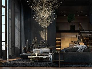 Paris apartment Diff.Studio Living room