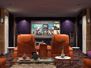 Sweet Home Design Modern media room
