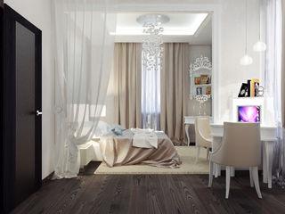 Vera Rybchenko クラシカルスタイルの 寝室
