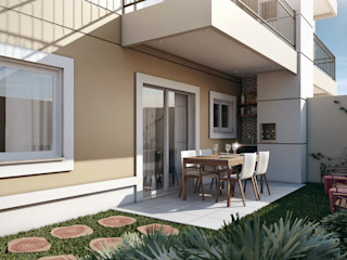 Lodo Barana Arquitetura e Interiores Classic style balcony, veranda & terrace