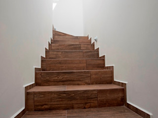 JF ARQUITECTOS Corridor, hallway & stairsStairs