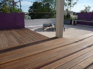 Terrasse Dachgeschosswohnung Bambus Komfort Parkett Moderner Balkon, Veranda & Terrasse