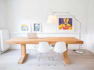 Woonhuis Laren ontwerpplek, interieurarchitectuur Moderne eetkamers
