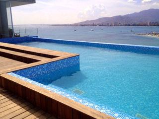Piscina color Bizancio Azul RENOLIT ALKORPLAN3000 RENOLIT ALKORPLAN Piscinas de estilo mediterráneo