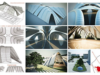 GINO SPERA ARCHITETTO Salle de sport moderne