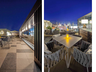 destilat Design Studio GmbH Modern balcony, veranda & terrace