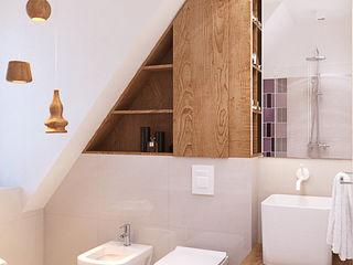 Finchstudio Ванная комната в скандинавском стиле