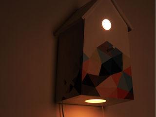 "Birdhouse lamp ""Bee's dream"" NOBOBOBO Nursery/kid's roomLighting"