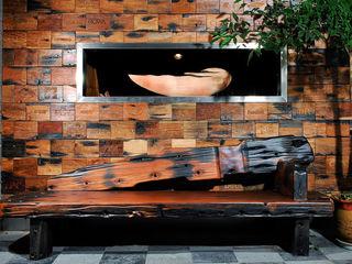 Reclaimed Ship Wood Used Worldwide ShellShock Designs Asian style walls & floors Wood