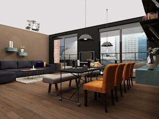 Aileen Martinia interior design - Amsterdam Modern Living Room Wood Brown