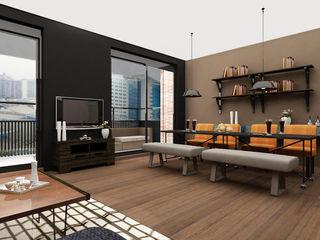 Aileen Martinia interior design - Amsterdam Industrial style dining room Black