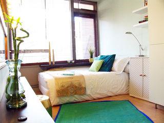 Aileen Martinia interior design - Amsterdam Dormitorios de estilo ecléctico Bambú Verde
