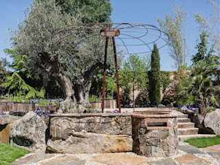 Barbacoa y pérgola - Slbon Forja Creativa Slabon Forja Creativa JardínBarbacoas