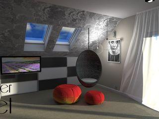 Pracownia projektowa Atelier Lillet Cuartos de estilo moderno