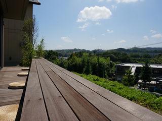 松岡淳建築設計事務所 Modern Garden Wood Wood effect