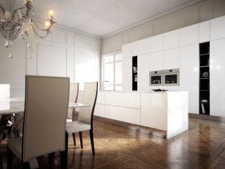 ImagineCG Cocinas de estilo minimalista