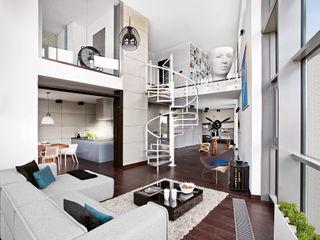 justyna smolec architektura & design industrial style corridor, hallway & stairs