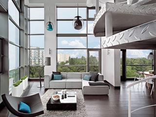 justyna smolec architektura & design Modern Corridor, Hallway and Staircase